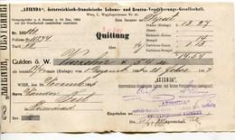 """Autriche Austria Österreich Ticket QUITTUNG """" AZIENDA """" Austria - France Society 1887 # 2 - Autriche"""