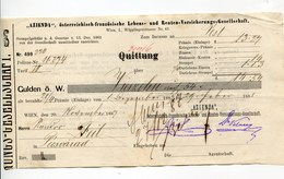 """Autriche Austria Österreich Ticket QUITTUNG """" AZIENDA """" Austria - France Society 1888 - Austria"""