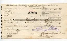 """Autriche Austria Österreich Ticket QUITTUNG """" AZIENDA """" Austria - France Society 1889 # 1 - Autriche"""