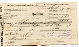 """Autriche Austria Österreich Ticket QUITTUNG """" AZIENDA """" Austria - France Society 1889 # 2 - Austria"""