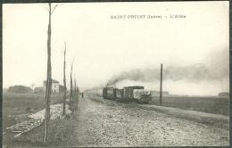 69 - Rhône - 38 Isère - Saint Priest L'allée Et Le Train Tramway Ligne De Lyon Saint Marcellin TBE RARE - Saint Priest