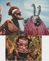 Bl - Lot De 15 CPM Masque Africain (Dédougou, Dogon, Bapendé, Bamiléké, Bobo, Mukishis, Baoulé, Dan, Kifwébé - Africa