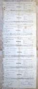 """Autriche Austria Österreich 7 Ticket QUITTUNG """" AZIENDA """" Austria - France Society 1883 - 1889 # 2 - Austria"""