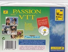 FRANCE - 3 CP PRE-TIMBREES NEUVES  SOUS BLISTER SERIE PASSION VTT EMOTION EVASION SENSATION  /2 - Mountain Bike