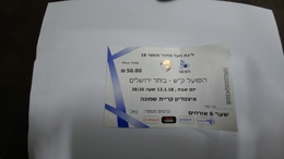 Israel-match Tickets-(49)-foot Ball-hapoel Kiryat-beitar Jerusalem-(50.00)-(13.1.2018)-(243)(number-243008)-get 6-payler - Tickets D'entrée