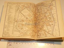 Mailand Schweiz Suisse Map Karte 1886 - Cartes Géographiques