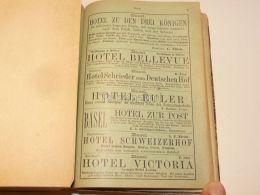 Basel Hotel Pension Suisse 1886 - Publicités