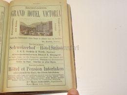 Grand Hotel Victoria Pension Interlaken Berner Oberland Austria Suisse 1886 - Publicités