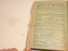 Hotel Pension Interlaken Berner Oberland Suisse 1886 - Publicités