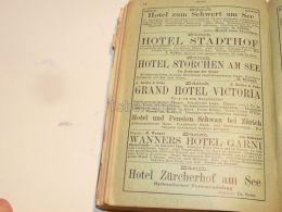 Zürich Suisse Hotel Restaurant Pension 1886 - Publicités