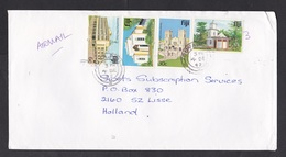 Fiji: Airmail Cover To Netherlands, 1992, 4 Stamps, Post Office, Church, Shiva Temple, Cathedral (minor Discolouring) - Fiji (1970-...)