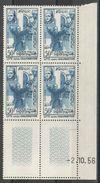 Maroc - YT 373 Bloc Coin Daté 2.10.56 ** - Maroc (1956-...)