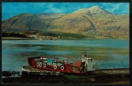 RB 1184 - Postcard - Corran Car Ferry - Inverness Scotland - Ship Maritime Theme - Inverness-shire