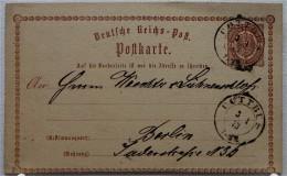 POSTKARTEN-Ganzsache Vom 3.1.1873 - COTTBUS > BERLIN - Deutschland