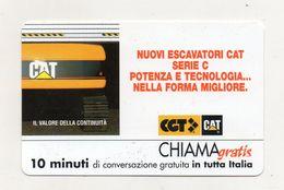 Telecom - Scheda Chiama Gratis - 2002 - CGT - CAT - 10 Minuti Di Conversazione Gratuita - NUOVA - (FDC7517) - [2] Sim Cards, Prepaid & Refills