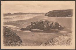 Chapel Rocks & Sandhills, Perranporth, Cornwall, 1919 - Harvey-Mitchell Postcard - England