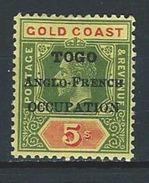 Togo SG H56a, Mi 43 * MH - Grande-Bretagne (ex-colonies & Protectorats)