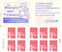 FRANCE - BOOKLET / CARNET, Yvert 3419-c16 - 2004 - Marianne Du 14 Juillet, 10x TVP Red - Carnets