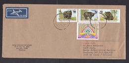 Pakistan: Airmail Cover To Netherlands, 1990, 4 Stamps, TV, Himalaya Bear, WWF Panda Logo, Air Label (traces Of Use) - Pakistan