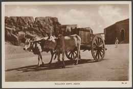 Bullock Cart, Aden, C.1920s - Lehem RP Postcard - Yemen