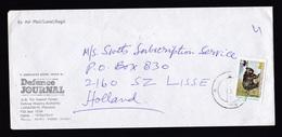 Pakistan: Airmail Cover To Netherlands, 1991, 1 Stamp, Himalaya Bear, WWF Panda Logo (damaged: Staple Holes) - Pakistan