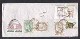 Pakistan: Airmail Cover To Netherlands, 1995, 8 Stamps, Himalaya Bear, WWF Panda Logo, Freedom Pioneers (damaged) - Pakistan