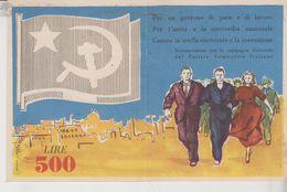 Tessera Sottoscrizione Partito Comunista Italiano Rara Lire 500 - Documentos Históricos