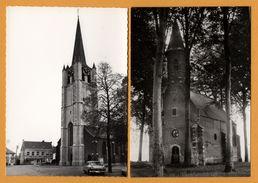 2 Cp - Wommelgem - Kerk - Sint Janskapel - Vieille Voiture FORD - Horloge - MEVR. DE WOLF - Wommelgem