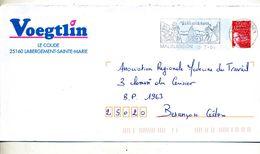 Pap Liberte Flamme Malbuisson Chien Ski Entete Charpente Baud - Postal Stamped Stationery