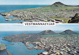 Iceland PPC Vestmannayjar Heimaey Before And After The Eruption 1973 EDDA Foto (245) (2 Scans) - Iceland