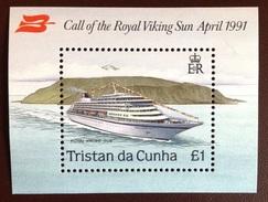 Tristan Da Cunha 1991 Viking Sun Ship Minisheet MNH - Tristan Da Cunha
