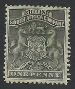 Rhodesia, British South Africa Company, 1 P, 1892, Sc # 2, Mi # 1, MH. - Great Britain (former Colonies & Protectorates)