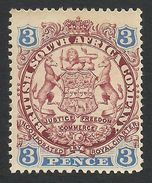 Rhodesia, British South Africa Company, 3 P, 1896, Sc # 29, Mi # 28I, MH. - Great Britain (former Colonies & Protectorates)