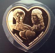 "Congo Democratic Republic 5 Francs 2005 GOLDEN PLATE "" AUSTRIA Endless Love - Sissi & Franz Joseph"" Free Shipping - Congo (Democratic Republic 1998)"