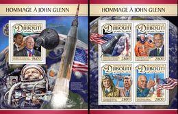 Djibouti 2017, Space, J. Glenn, 4val In BF +BF - Space