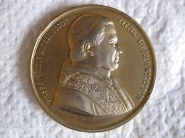 Médaille Papale PIE IX Concile Œcuménique 8 Décembre 1869 Par MASSONNET - Unclassified