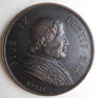 Médaille Papale PIE IX ,50° Dal Giubileo Episcopale Di Pio IX , ANNO 1877 - Unclassified