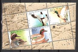 Israel 1989 International Stamp Exhibition WORLD STAMP EXPO '89, Washington: Ducks, Mi 1143-1146 In Bloc 40 MNH(**) - Nuevos (con Tab)
