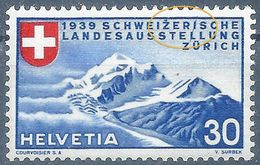 Piz Bernina 221, 30 Rp.blau/rot  ABART              1939 - Schweiz