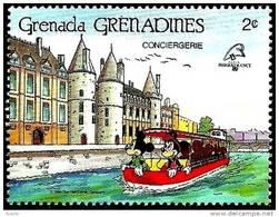 Granada Granadinas 1989 Scott 1058 Sello ** Walt Disney Conciergerie Paris Mickey Y Donald 2c Grenada Grenadines Stamps - Disney