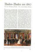 Baden-Baden Um 1860 /  Artikel, Entnommen Aus Zeitschrift /1936 - Books, Magazines, Comics