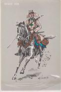 CPM 10.5 X 15.5 MILITARIA .LA LEGION A TRAVERS LES SIECLES ( Légionaire à Cheval )  Syrie 1925 Illust BURDA 79 - Uniformes