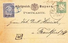 Karte Von 1878  ( ? ), Königreich Bayern - Old Paper