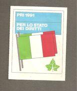 TESSERA PARTITO REPUBBLICANO ITALIANO  1991 SEZIONE DI ALBISSOLA MARE - Vecchi Documenti