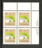 006185 Canada 1978 10c Plate Block 2 UR MNH - Plate Number & Inscriptions