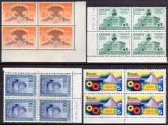 CEYLON 1955-64 SG #436,437,471,501-02 Four Blocks Of Four MNH - Ceylon (...-1947)