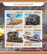 Djibouti 2017, Truks, Ice Transports, 4val In BF - Other Means Of Transport