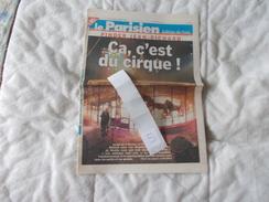 Lot De Documents En Rapport Avec Le Cirque Pinder Le Parisien Jeudi 18 Decembre 2003 N° 18435 - Vecchi Documenti