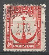 Pakistan 1948. Scott #24 (U) Scales, Star, Crescent - Pakistan