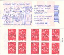FRANCE - BOOKLET / CARNET, Yvert 3744-c4 - 2005 - Marianne Des Français, 10x TVP Red - Carnets